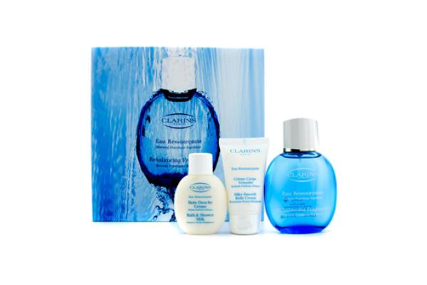 Clarins Eau Ressourcante Coffret: Rebalancing Spray 100ml/3.4oz + Body Cream 50ml/1.7oz + Shower Gel 50ml/1.7oz (3pcs)