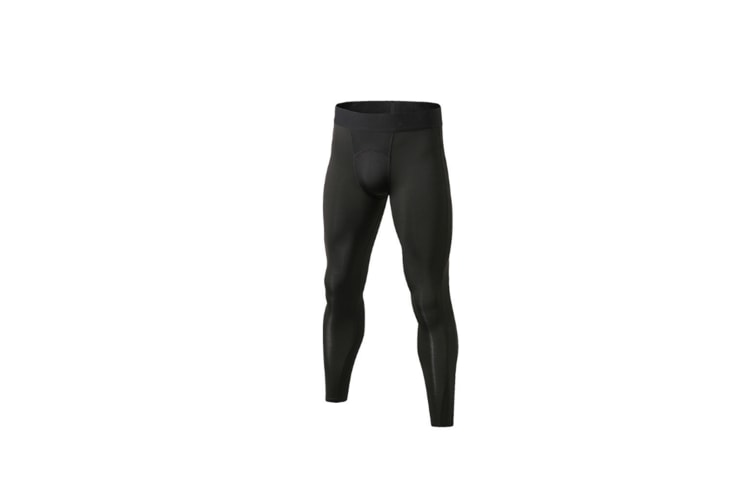Men'S Compression Pants Cool Dry Baselayer Tights Leggings - Black Black XL
