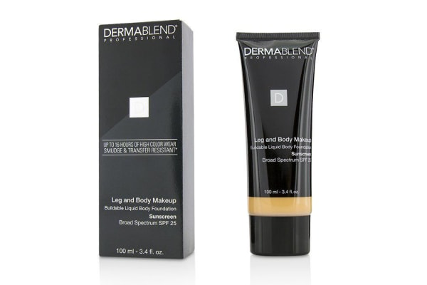 Dermablend Leg and Body Make Up Buildable Liquid Body Foundation Sunscreen Broad Spectrum SPF 25 - #Light Sand 25W (Exp. Date 01/2019) 100ml/3.4oz