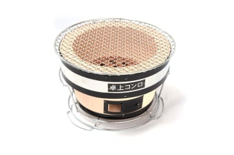 Japanese Korean Ceramic Hibachi BBQ Table Grill Round
