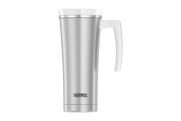 Thermos 470 ml Sipp Stainless Steel Vacuum Insulated Travel Mug (White)