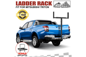SAN HIMA Tow Bar Ladder Rack Roof Rack Canoe/Kayak Carrier for Mitsubishi Triton