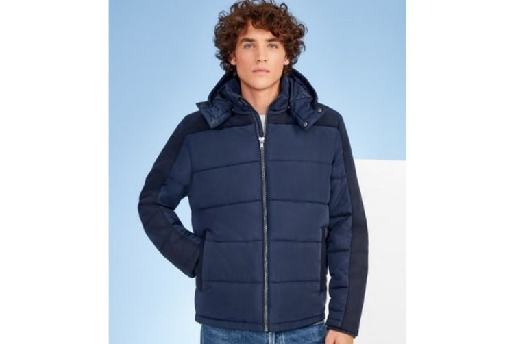 SOLS Mens Reggie Contrast Padded Jacket (Night Blue) (S)