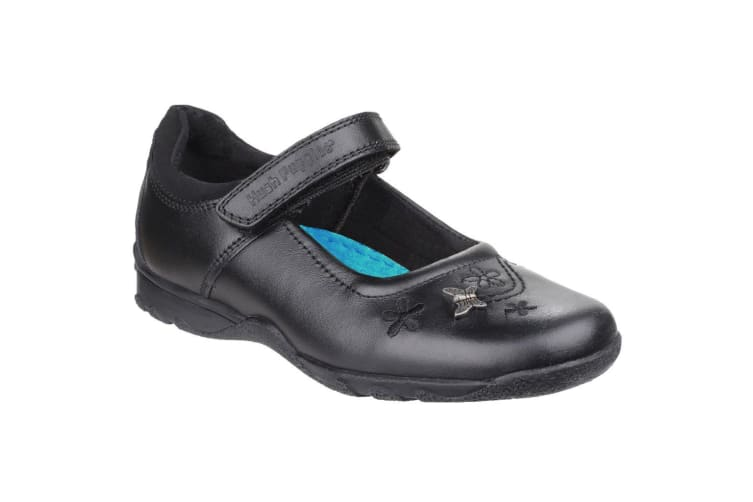 Hush Puppies Childrens Girls Clare Back To School Shoes (Black) (11.5 Child UK)