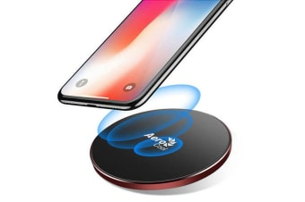 AeroCool Slimline 10W Qi Fast Wireless Charger for Android/Apple w/Light Red/BLK
