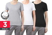 bay6 Women's Plain T-Shirt 3 Pack - 100% Cotton