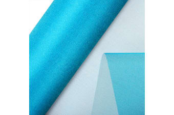 Club Green Organza 10 Metre Snow Sheer Roll (Turquoise)