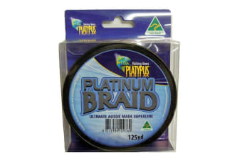 Platypus Platinum Australian Made Braid - 50lb - Grey - 125 Yd Spool