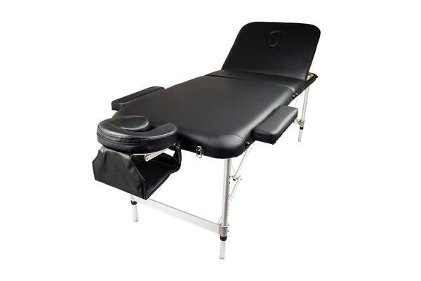 Aluminium Portable Massage Table 70cm - BLACK