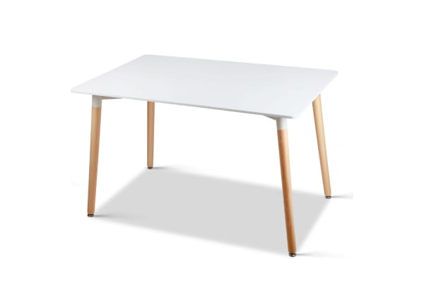 Rectangular 6 Seater Dining Table (White)