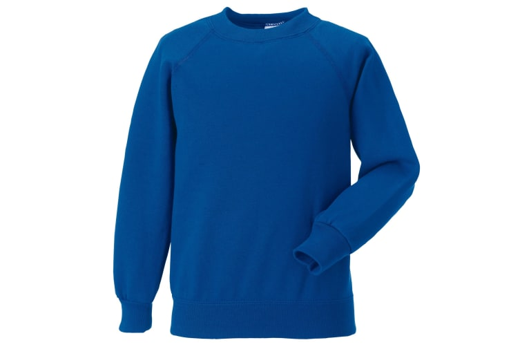 Jerzees Schoolgear Childrens Raglan Sleeve Sweatshirt (Bright Royal) (5-6)