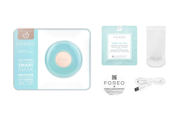 Foreo UFO Mini Smart Mask Treatment Device with Red/Green/Blue LED Lights - Mint (F4347)