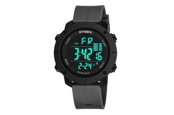 Outdoor Multifunctional Student Watch Men'S Sports Electronic Watch Grey
