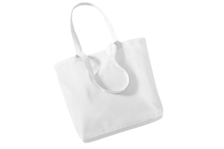 Westford Mill Organic Cotton Shopper Bag - 16 Litres (Pack of 2) (White) (One Size)