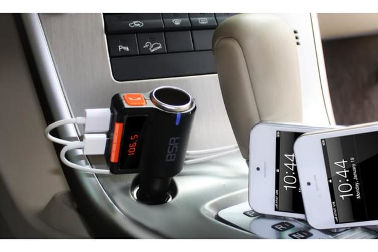 Bluetooth V2.0 Fm Transmitter Dual Usb Car Lighter Charger Extender Bc09