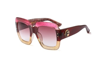 Oversized Square Sunglasses Women Multi Tinted Frame Fashion Modern Shades