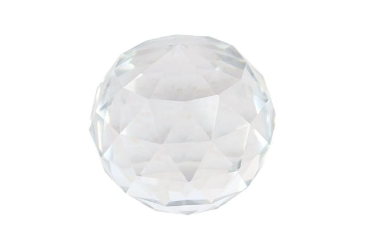 Something Different Faceted Crystal Ball (Clear) (40mm)