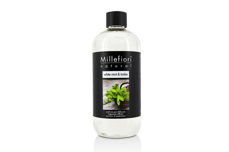 Millefiori Natural Fragrance Diffuser Refill - White Mint & Tonka 500ml