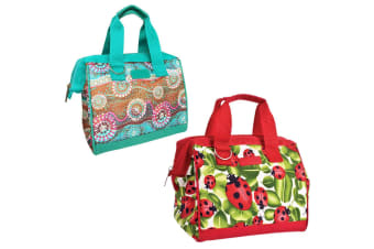 2PK Sachi Thermal Insulated Picnic Lunch Cold Box Bag Carry Dreamtime Lady Bug