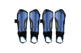 2x Mitre Aircell Power Soccer Shinguard/Shin Pad Ankle Sock Protector Size Large