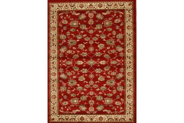 Traditional Floral Pattern Rug Red 170x120cm