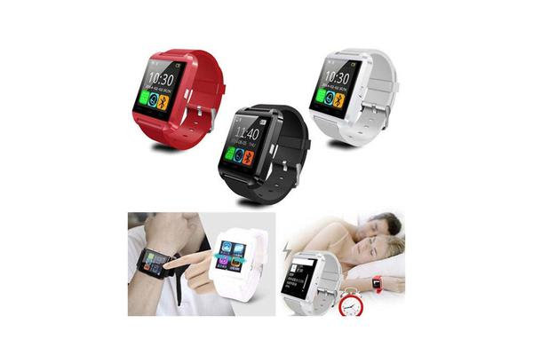 U80 Bluetooth Smart Watch Phone Mate For Android Ios Iphone Samsung White
