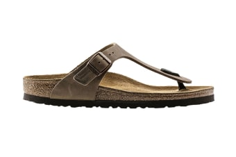 Birkenstock Gizeh Oiled Leather Sandal (Tobacco Brown, Size 41 EU)