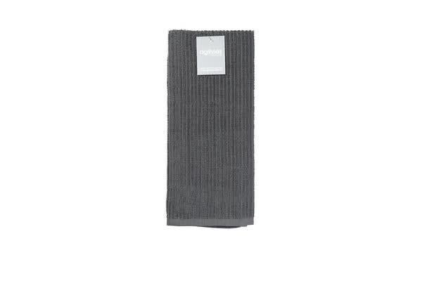Ogilvies Designs Rib Terry Tea Towel Grey