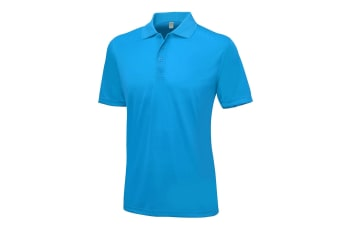 AWDis Just Cool Mens Smooth Short Sleeve Polo Shirt (Sapphire Blue)