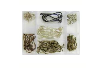 Surecatch 140 Piece Assorted Fishing Hook Pack in Tackle Box