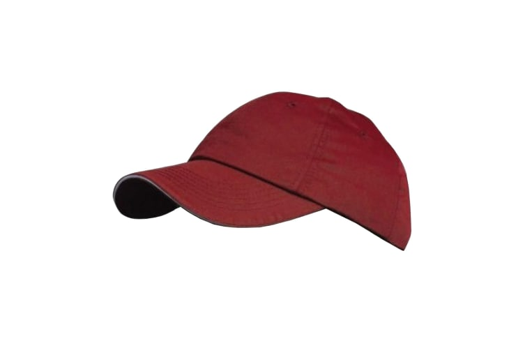 Result Plain Premium Heavy Brushed Baseball Cap (Pack of 2) (Red/Putty) (One Size)