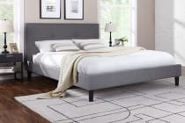 Ovela Fabric Bed Frame - Allegro Collection (Grey)
