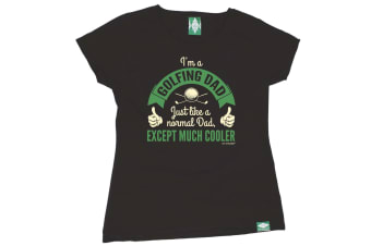 Out Of Bounds Golf Tee - Im A Dad - (XX-Large Black Womens T Shirt)