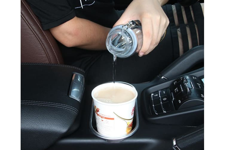Automotive Heating Water Cup Vehicle-Mounted Large Capacity Insulation Cup - Silver Silver 280Ml