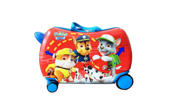 Skyair Kids Ride On Suitcase Travel Luggage Hand Carry Toy Box Swviel Wheel Red