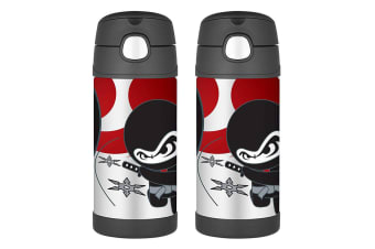 2PK Thermos Funtainer 355ml Insulated Stainless Steel Drink Water Bottle Ninja
