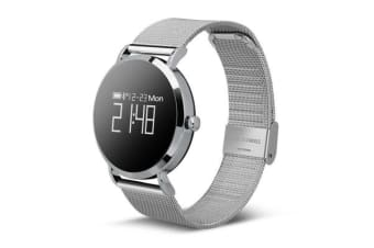 "TODO Bluetooth V4.0 Smart Watch Heart Rate Blood Oxygen 0.95"" Oled Ip67 - Metal Silver"