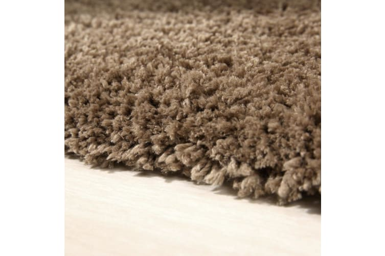 Large Shaggy Shag Rug Ultra Soft Anti-Skid Floor Carpet Mat Charcoal Beige Taupe  -  Charcoal120x170cm