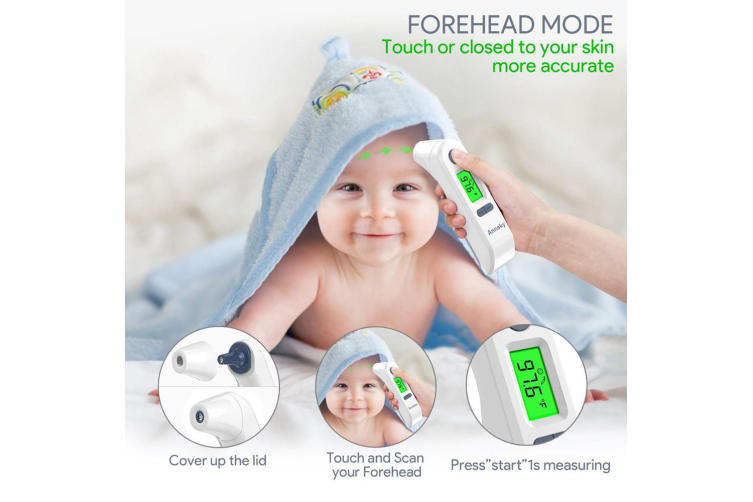 Infrared Ear Forehead Thermometer LCD IR Digital Body Temperature Adult Child