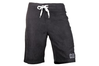 CAT Lifestyle Mens C2820967 Logo Drawstring Board Shorts (Black)