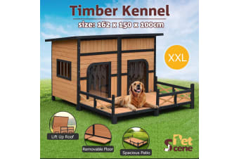 Dog House Large Golden Kennel Outdoor Pet Cage-XXL
