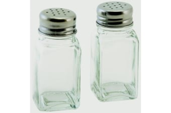 Chef Aid Salt And Pepper Shakers (Pack Of 2) (Transparent/Silver) (200g)
