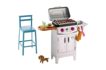 Barbie Furniture and Accessories Playset - BBQ Grill with Puppy