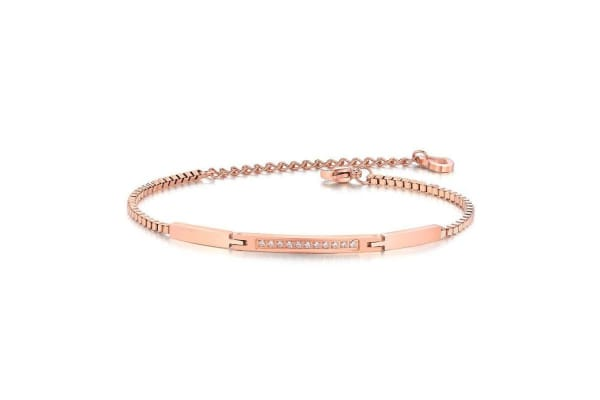 Trixie Bracelet Ft. Crystals From Swarovski-Rose Gold/Clear