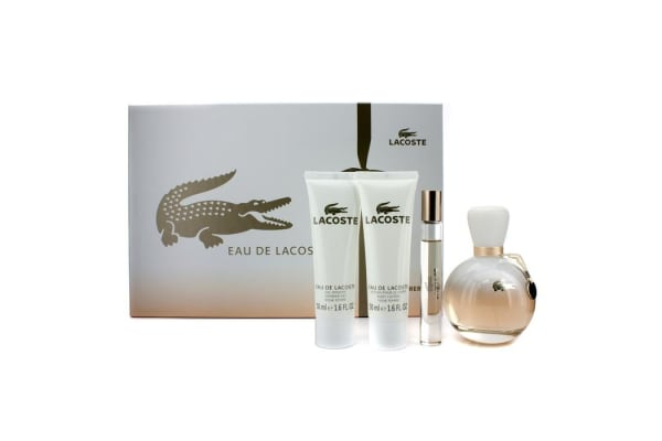 Lacoste Eau De Lacoste Coffret: Edp Spray 90ml/3oz + Edp Roll On 6ml/0.2oz + Body Lotion 50ml/1.6oz + S (4pcs)