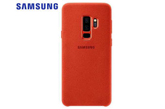 Samsung Alcantara Protective Case Cover Protection for Galaxy S9+ Plus Red