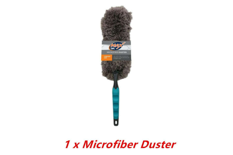 Microfibre Microfiber Duster Comfort Grip Cleaning Dust Dirt Home Office Feather