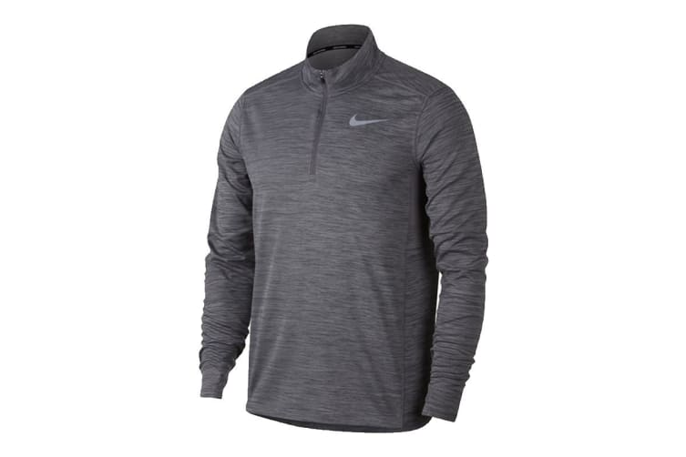 Nike Pacer Half Zip Men's Running Top (Grey, Size XL)