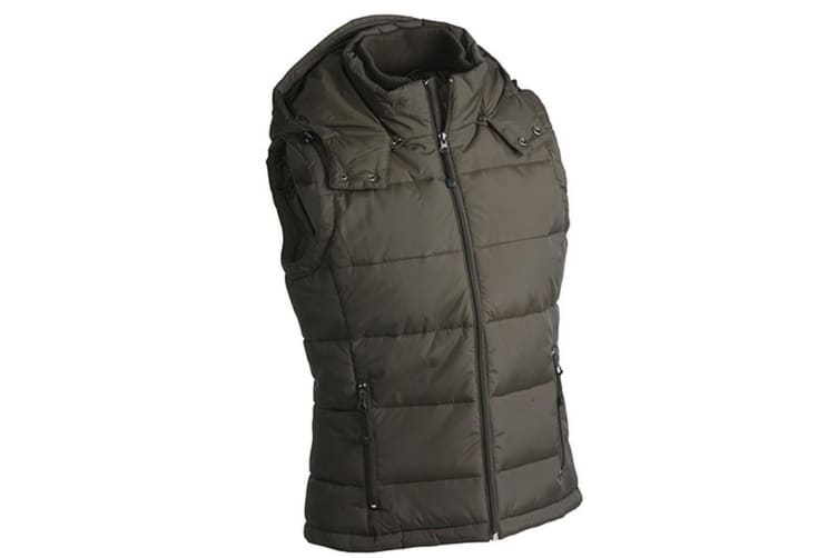 James and Nicholson Mens Padded Vest (Mud Brown) (S)