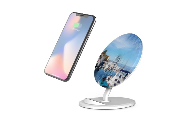 QI Wireless Charger For iPhone 11 Samsung Galaxy S20+ S20 Ultra S10+ Sea Dream